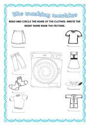 English Worksheet: The washing machine