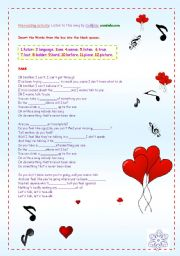 English Worksheets: A SONG: TALK BY COLDPLAY