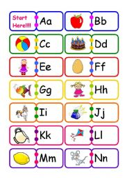 English Worksheet: Alphabet Domino!!!