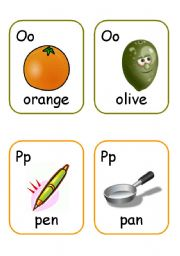 English Worksheet: Alphabet flashcards. PART 2