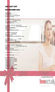 English Worksheets: Love is all around Lyrics