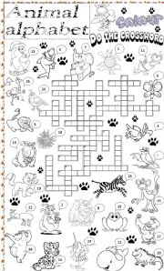 English Worksheets: animal alphabet