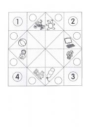 English Worksheet: Cootie catcher - toys