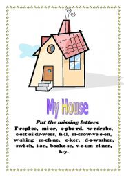English worksheet: My house