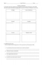 English Worksheet: Beowulf