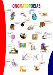 English Worksheet: ONOMATOPOEIAS - PICTIONARY