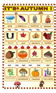 English Worksheets: It�s Autumn