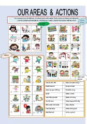English Worksheets: OUR AREAS & ACTIONS