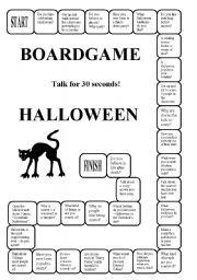 english worksheets halloween a boardgame editable - Esl Halloween Games