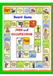 English Worksheet: JOBS and Occupations Board game 4/5 + instructions + key. Fully editable