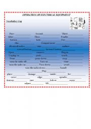 English Worksheets: Give and follow instructions to operate electrical devices