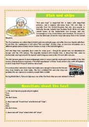 English Worksheets: FISH AND CHIPS