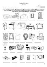 English Worksheets Living Pg 2