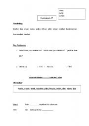 English Worksheets: Occupations Worksheet