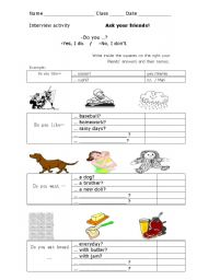 English Worksheets: Interview with