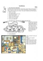 English Worksheets: prepositions and parts of the body test