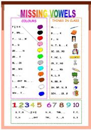Printables Missing Vowel Worksheets english teaching worksheets the vowels missing vowels