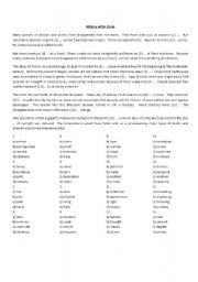 English Worksheet: CAE - Use of English - Cloze