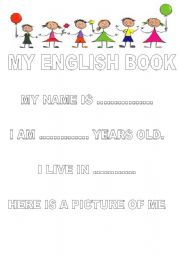 English Worksheets: MY ENGLISH BOOK part 1 of 5