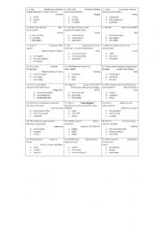English Worksheet: Comparative and Superlative Trivia Game