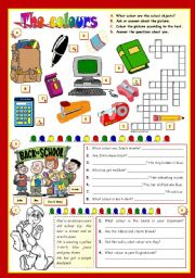 English Worksheets: THE COLOURS