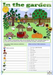 English Worksheets: In the garden