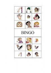 English Worksheets: Parts of the body -Bingo