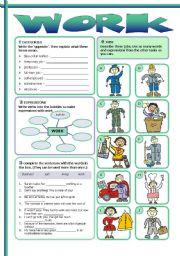 English Worksheet: Work