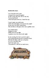 English Worksheets: Behind the Door