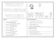 English Worksheets: WH question
