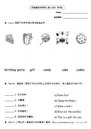 english worksheet birthday cake ideas and designs. Black Bedroom Furniture Sets. Home Design Ideas
