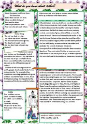 English Worksheet: clothes poems
