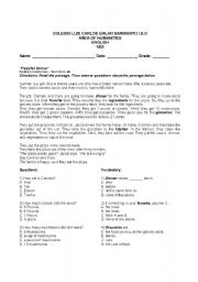English Worksheets: How Many - How Much reading