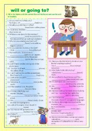 English Worksheet: will or going to part 2