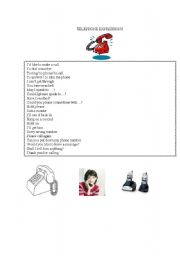 English Worksheets: telephone expressions