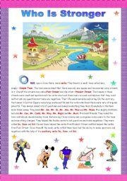 English Worksheet: Grammar Fairy Tale