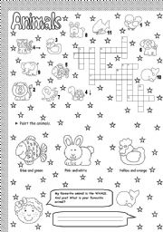 English Worksheets: cute animals 2