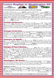 A TOUR AROUND ENGLISH SPEAKING COUNTRIES - USA -WASHINGTON DC