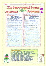 INTERROGATIVES :  ADJECTIVES  AND  PRONOUNS.