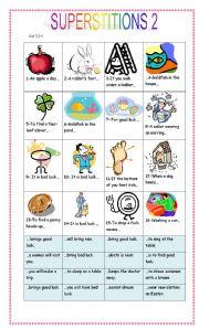 English Worksheet: Superstitions 2