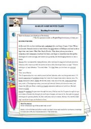 Marley and Me - Reading activity - previous the movie