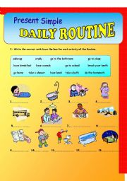 Daily Routine-Present Simple