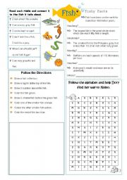 English Worksheets: Types of Animals: Fish