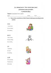 English Worksheets: actions verbs