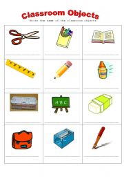 Things In The Classroom Worksheet For Kindergarten