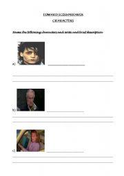 Edward Scissorhands Characters