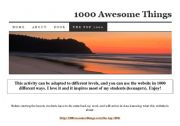English Worksheets: 1000 Awesome Things