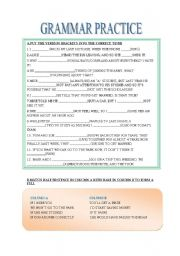 English Worksheet: GRAMMAR PRACTICE FOR THE FCE