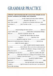 English Worksheets: GRAMMAR PRACTICE-ELEMENTARY