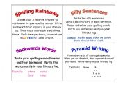 English Worksheets: Spelling Task Cards